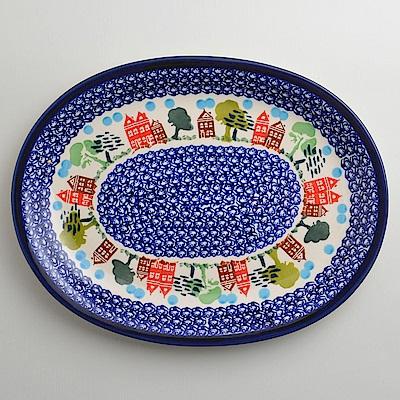【波蘭陶 Zaklady】 浪漫美屋系列 橢圓形餐盤 29cm 波蘭手工製