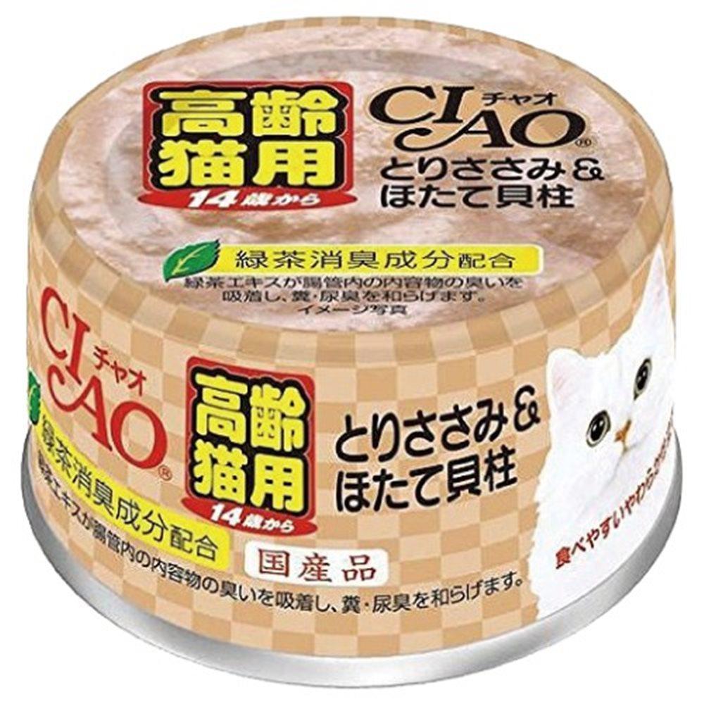 CIAO 特齡罐 14歲 53號 (雞肉+干貝) 75g 24罐組
