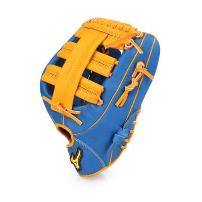 MIZUNO 壘球手套外野手用 藍黃