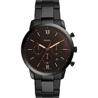 FOSSIL 型男潮流時尚石英計時手錶(FS5525)-咖啡x黑/42mm