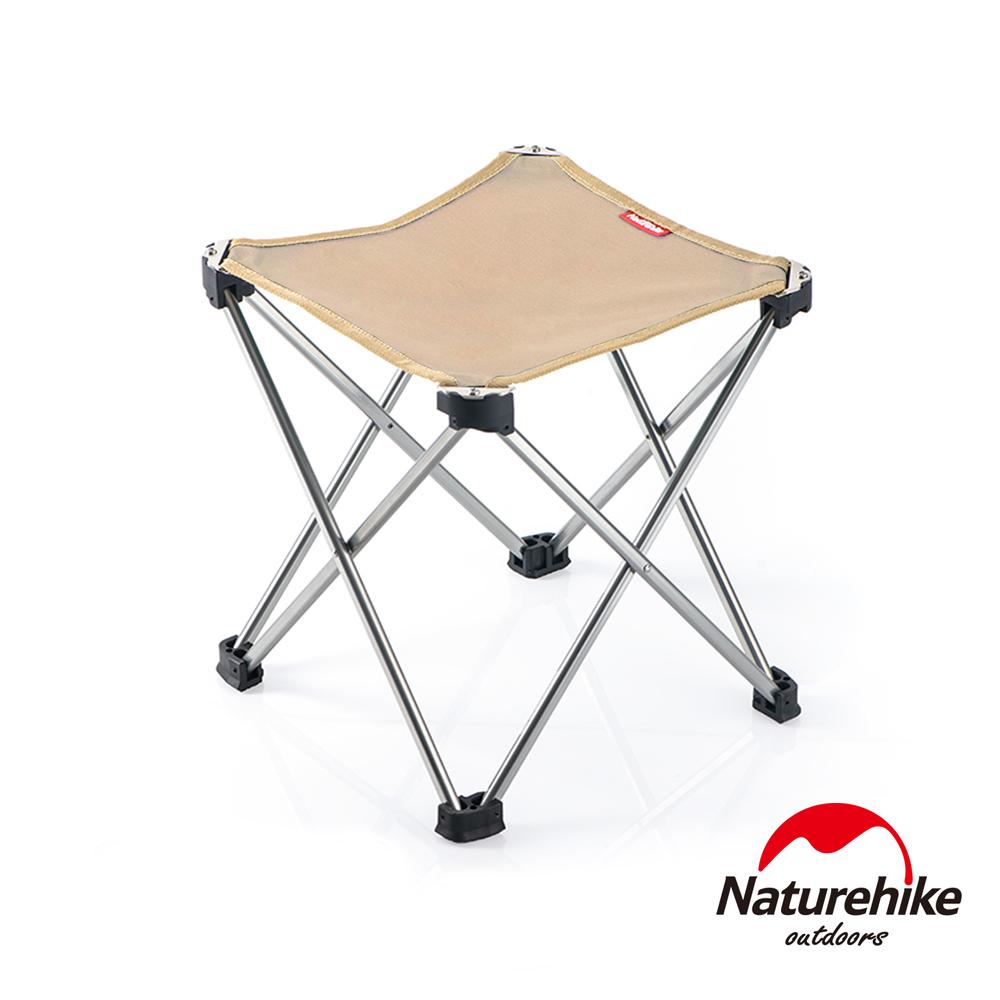 Naturehike 便攜式鋁合金戶外折疊椅 釣魚椅 中號 卡其色-急