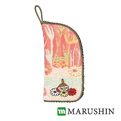 日本丸真 Moomin速吸收納雨傘/水瓶套-粉橘森林