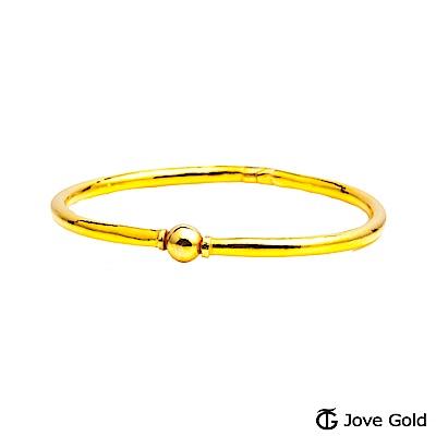 Jove Gold 漾金飾 唯一黃金手環-亮面