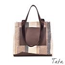斜紋編織手提單肩包 共二色 TATA