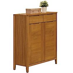 文創集 貝比時尚2.7尺實木二門鞋櫃/玄關櫃-81.8x40x107cm免組