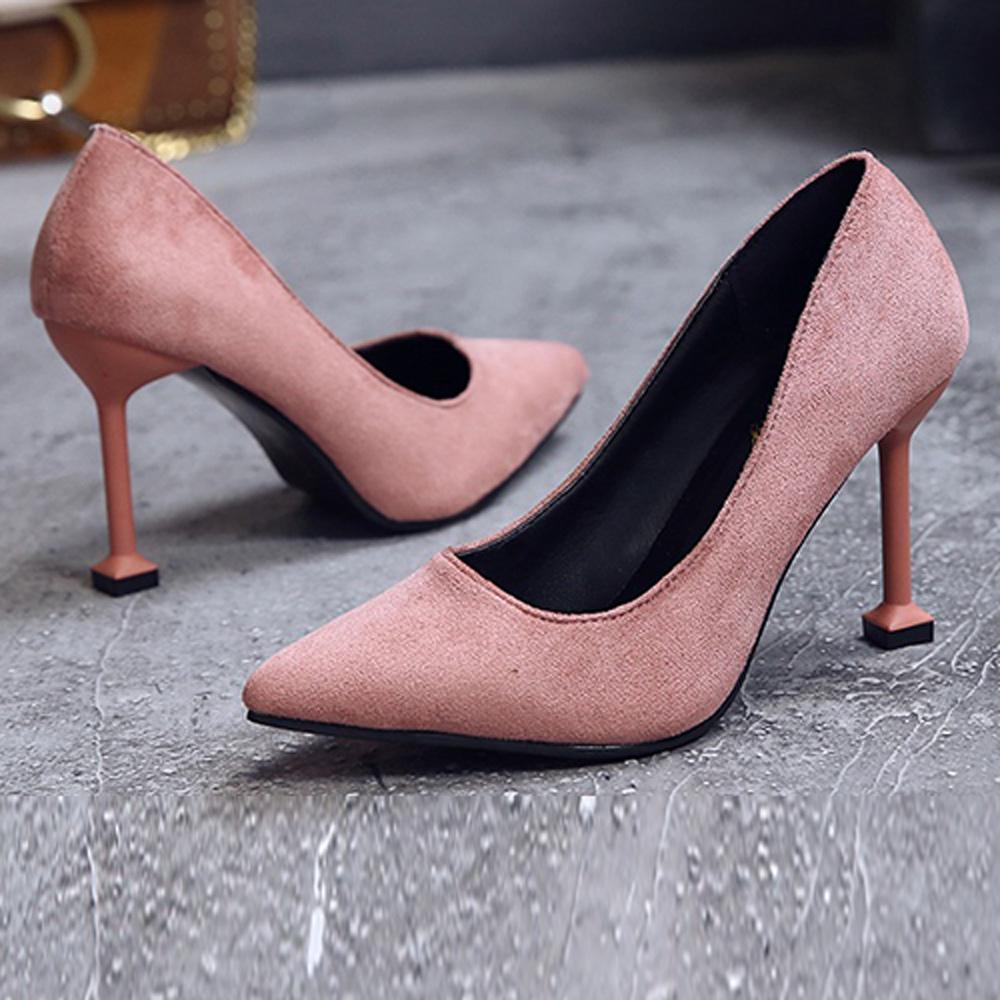KEITH-WILL時尚鞋館 歐洲款縹緲情愫細跟鞋-粉色