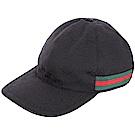 GUCCI Original GG 雙G緹花帆布棒球帽(黑色)