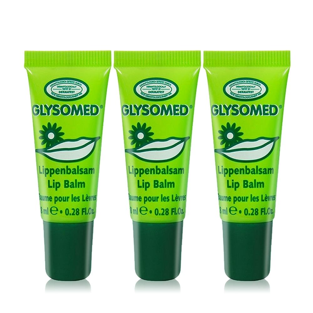 德國GLYSOMED 葛妮絲 甘菊修護潤唇膏(敏感肌適用)-清新薄荷8mlX3
