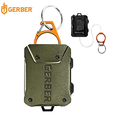 Gerber Defender 釣魚守衛 雙用伸縮鋼纜工具扣(軍綠) 30-001434