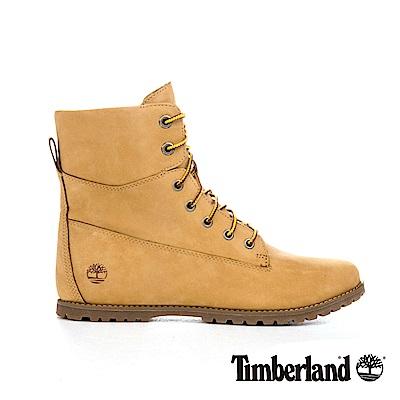 Timberland 女款小麥色輕質磨砂皮革側拉鍊靴|A1SEN