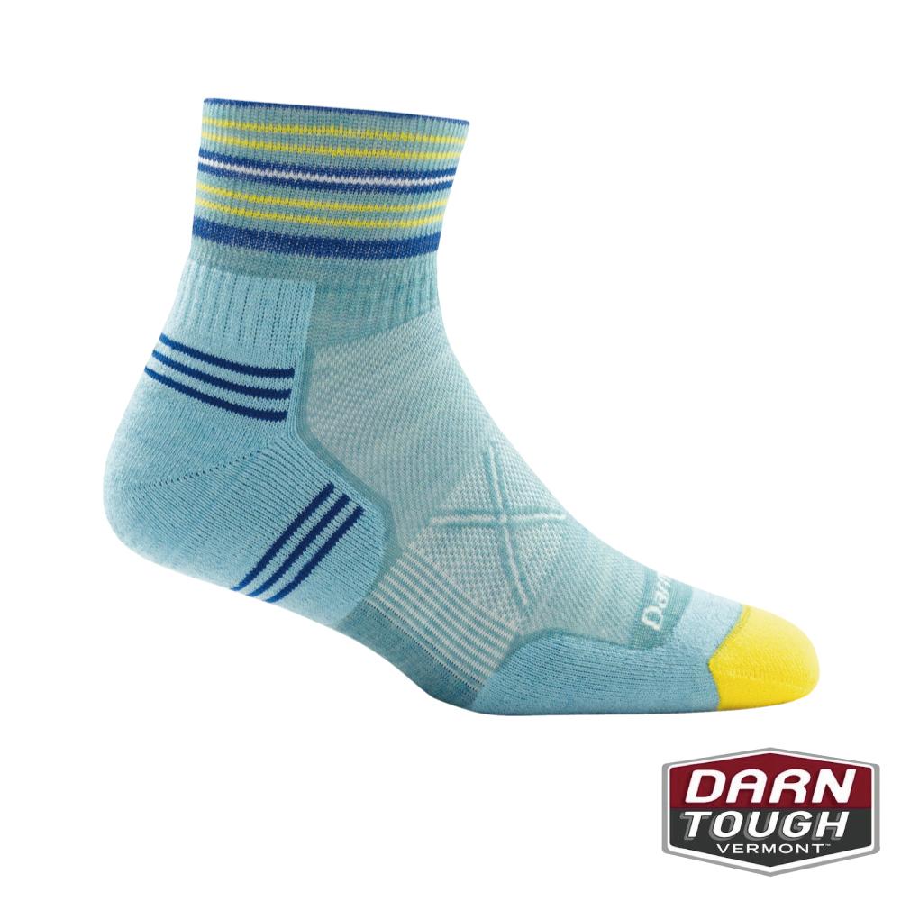 【美國DARN TOUGH】女羊毛襪Vertex 1/4跑步襪(2入隨機)