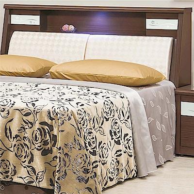 綠活居 麥卡5尺皮革雙人床頭箱(二色+不含床底)-150x30x106.5cm免組