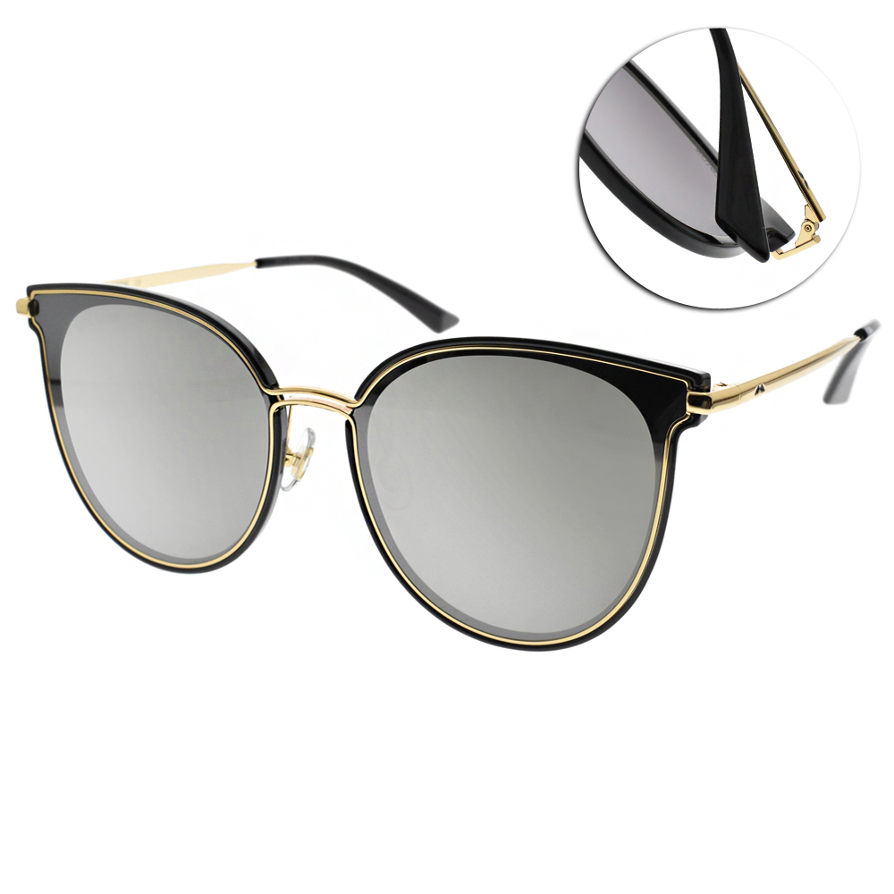 MOLSION太陽眼鏡 Angelababy代言/金黑-白水銀 #MS6065 B11