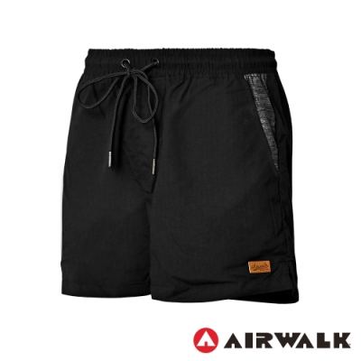 【AIRWALK】平織休閒短褲-女-黑