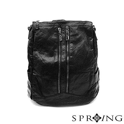 SPRING-微風城市輕量2用後背包-神秘黑