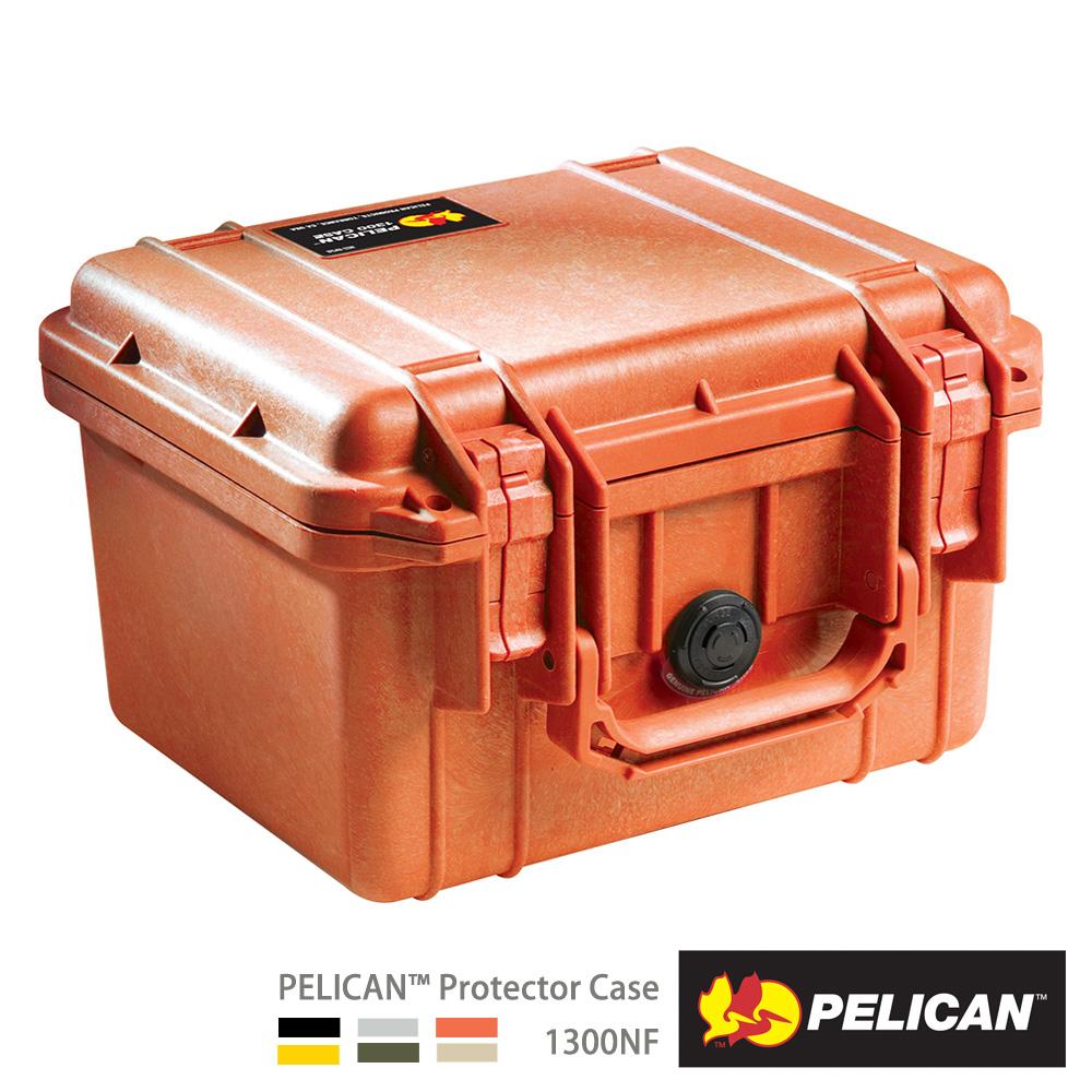 美國 PELICAN 1300NF 氣密箱-空箱(橘)