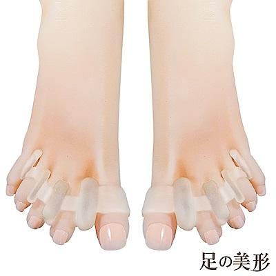 任選-足的美形 拇趾外翻4孔分趾套 (1雙)