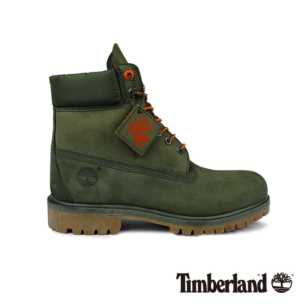 Timberland 男款深綠色正絨面皮革Icon六吋靴 A1QY1 @ Y!購物