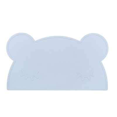 澳洲We Might Be Tiny 矽膠防滑餐墊熊寶寶-粉藍
