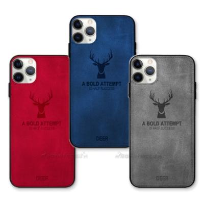 DEER iPhone 11 Pro 5.8吋 北歐復古風 鹿紋手機殼 保護殼 有吊飾孔