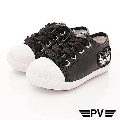PV日系私藏 大眼睛時尚休閒鞋款 P-823黑(中小童段)