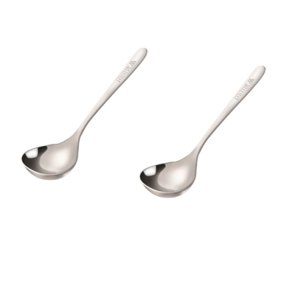 PUSH!餐具不鏽鋼拉麵勺304不鏽鋼湯勺長柄日式韓式(可商用)2入組E137