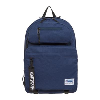 【OUTDOOR】繽紛原色-14吋筆電後背包-深藍色 OD201104NY