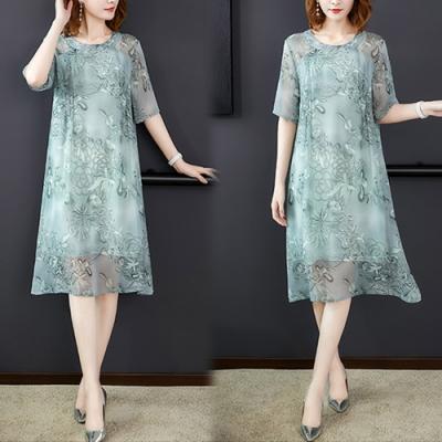 【韓國K.W.】冷艷時髦桑蠶絲洋裝