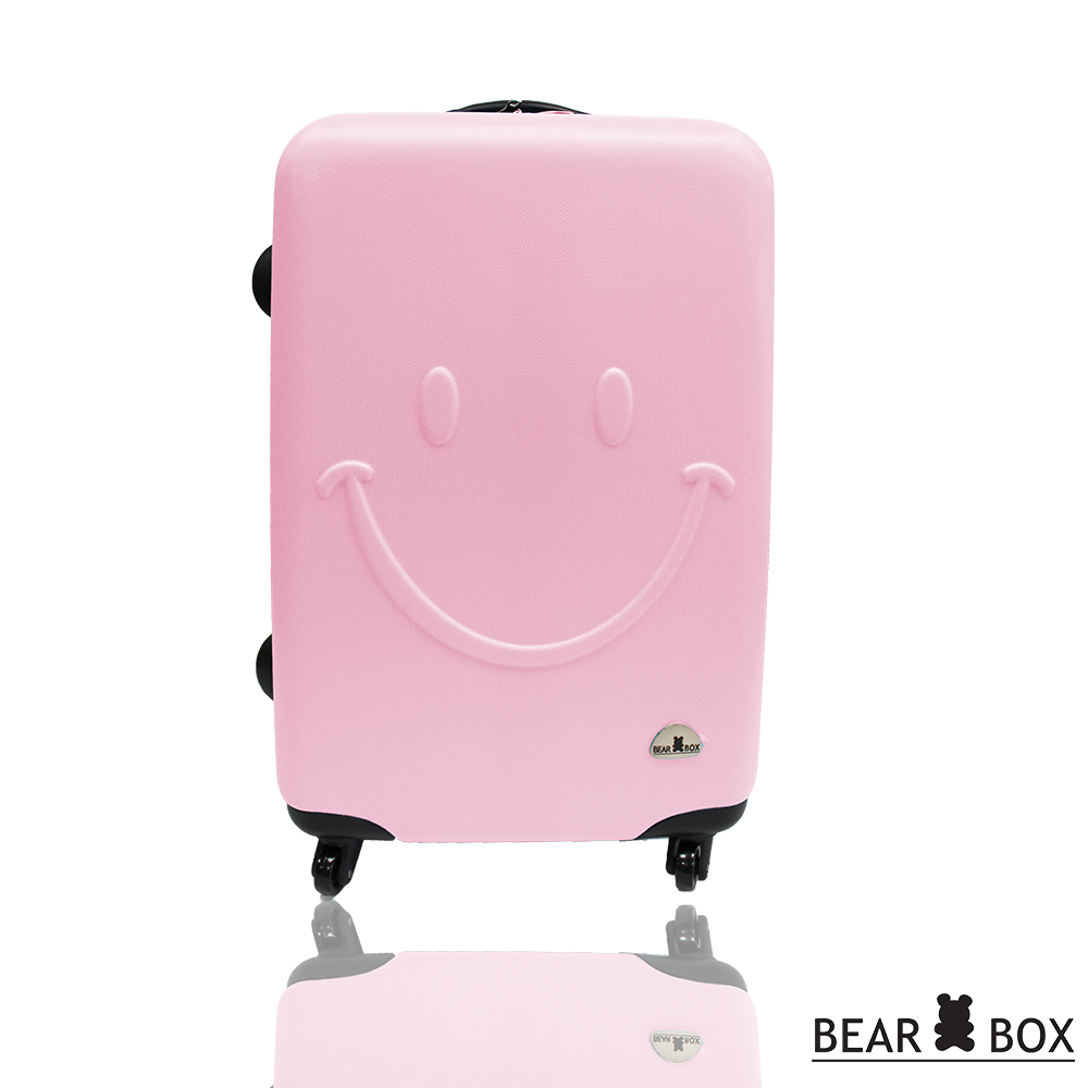 BEAR BOX 微笑系列經典24吋 輕硬殼旅行箱行李箱-粉紅色