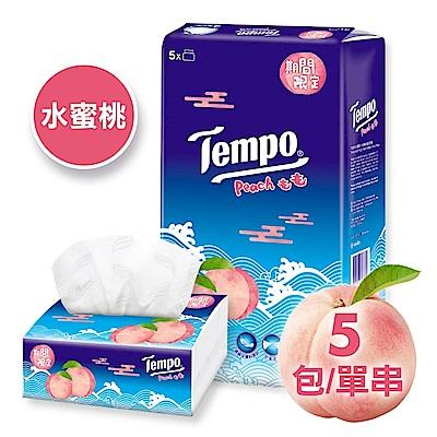 Tempo 4層輕巧包面紙 水蜜桃味限量版 (90抽x5盒)/串
