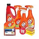 【時時樂限定】威猛先生 廚房衛浴清潔超值5件組 (送海綿菜瓜布2片)