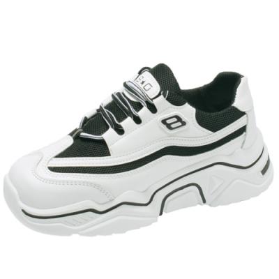 韓國KW美鞋館-(現貨)話題單品青春時光字母老爹鞋(共1色)