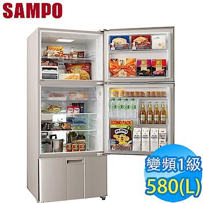 SAMPO聲寶 580L 1級變頻3門電冰箱 SR-A58DV(R6) 紫燦銀