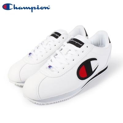 【Champion】Champion FG 復古慢跑鞋 電繡大LOGO阿甘鞋 女鞋-白/黑(84-2220101)