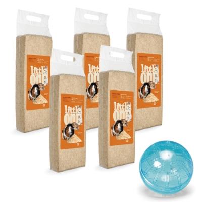 Little One - 自然護理系列 原味木屑 800g 五包組 贈玩樂鼠球x1(木屑墊材)