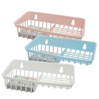 UdiLife 可俐/吸盤式雙格置物籃-3入組