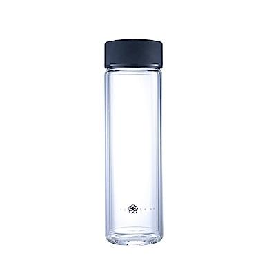FUSHIMA富島禪風雙層厚底隔熱玻璃隨手瓶430ML 2色可選