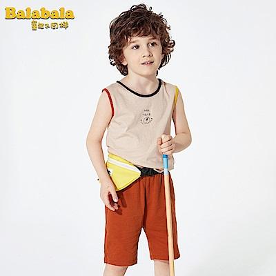 Balabala巴拉巴拉-蛋頭小子印花背心家居套裝-男(2色)
