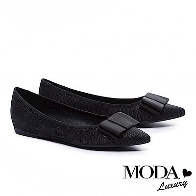 平底鞋MODA Luxury 氣質典雅蝴蝶結設計尖頭平底鞋-黑 @ Y!購物