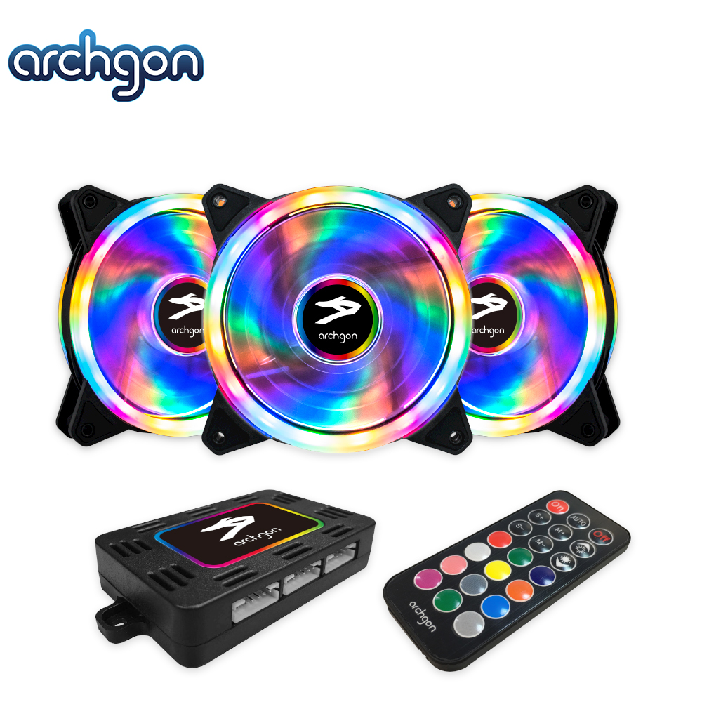 archgon亞齊慷 RGBCF13 Hanabi 30 RGB 電競風扇組(3入)