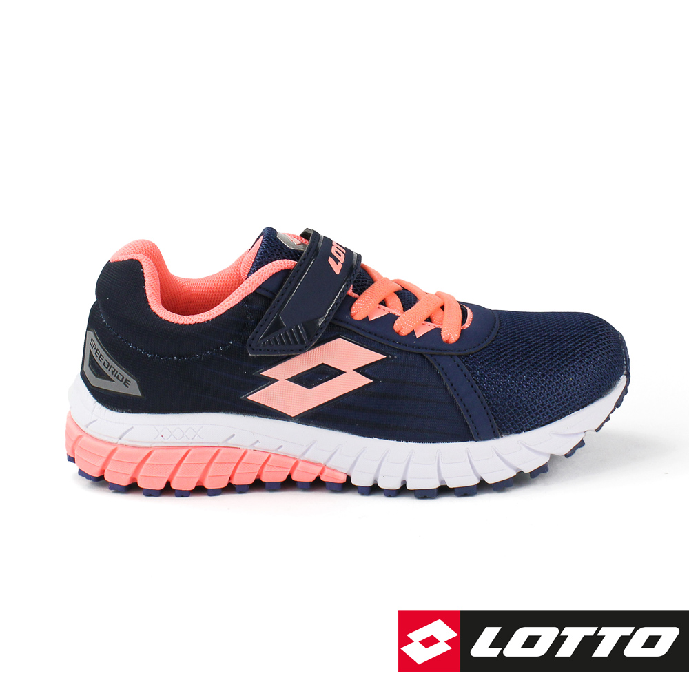 LOTTO 義大利 童 SPEEDRIDE 雙密度跑鞋 (深藍/粉橘)