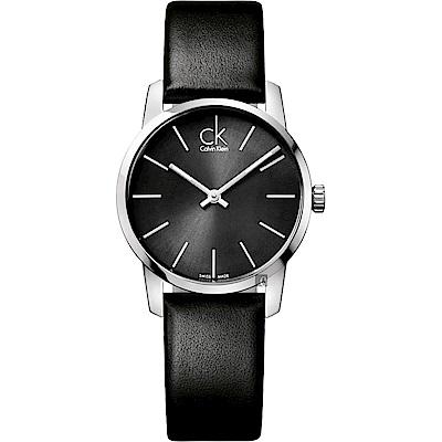 Calvin Klein CK City 極簡LOGO女錶-31mm(K2G23107)