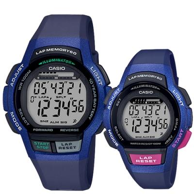 CASIO 卡西歐 運動慢跑情侶手錶對錶-WS-1000H-2A+LWS-1000H-2A