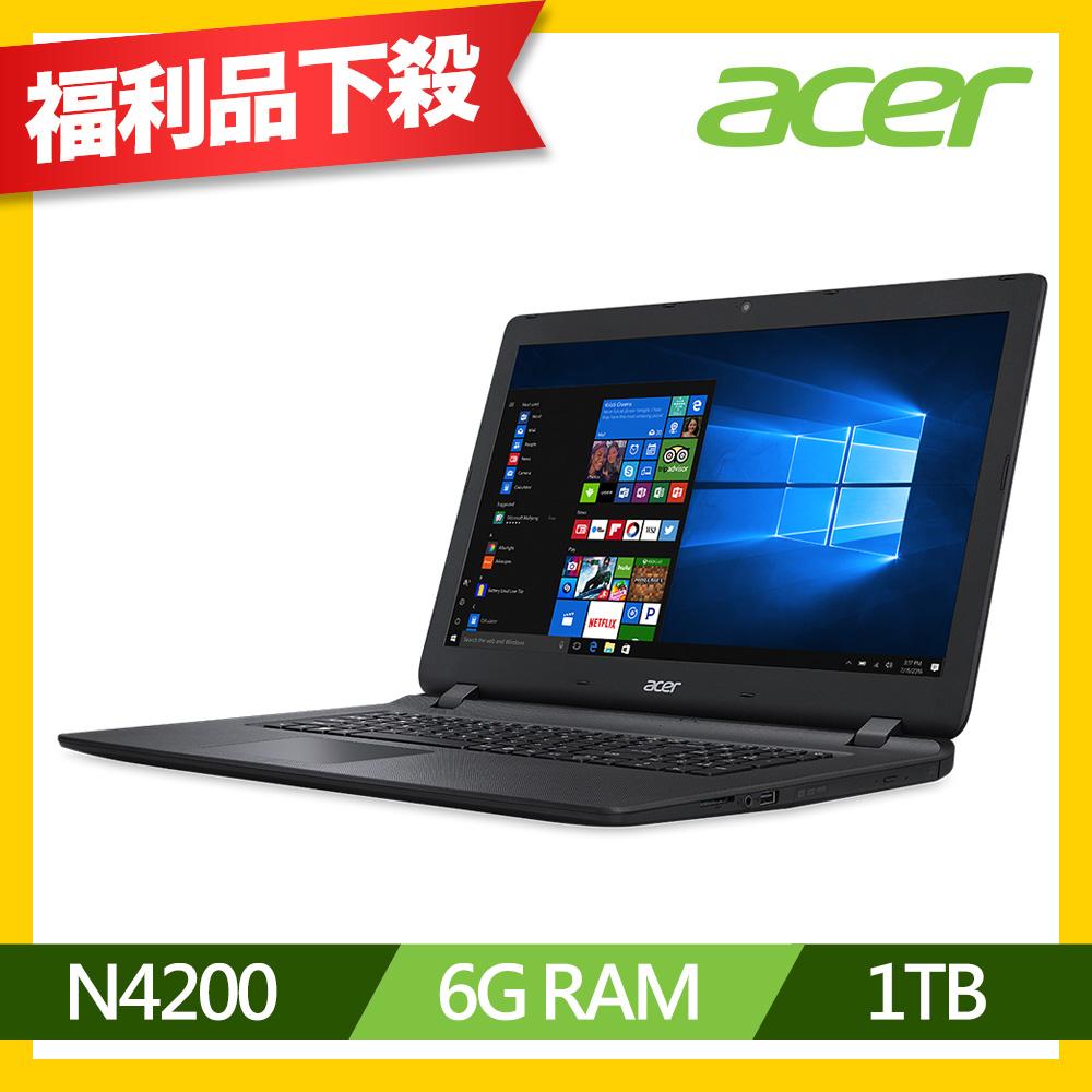 Acer ES1-732-P15K 17吋筆電(N4200/1T/6G/福利品