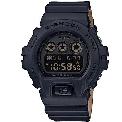 G-SHOCK潮流霧面雙色帶風格設計休閒錶(DW-6900LU-1)黑X咖啡/51.2mm