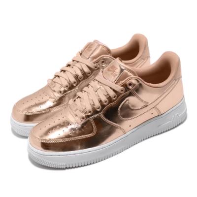 Nike 休閒鞋 W Air Force 1 SP 女鞋 玫瑰金 金屬配色 皮革 穿搭球鞋 金 白 CQ6566900