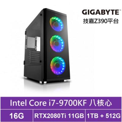 技嘉Z390平台[太陰海王]i7八核RTX2080Ti獨顯電玩機