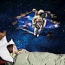 半島良品 DIY無痕壁貼-3D太空人 AY9264 60x90cm