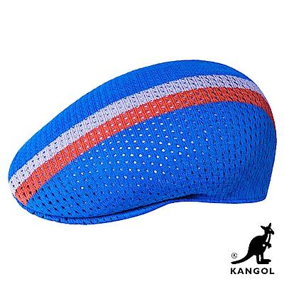 KANGOL-504 MESH STRIPE 鴨舌帽 -天空藍色