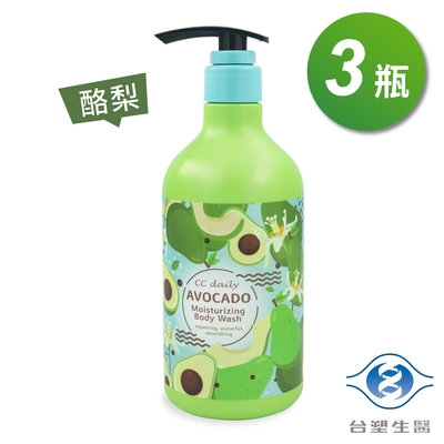 台塑生醫 酪梨 水潤 沐浴乳 580g X 3瓶